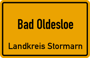 Ortschild Bad Oldesloe